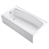 VILLAGER® 60 X 30 INCHES ALCOVE BATHTUB WITH INTEGRAL APRON AND LEFT-HAND DRAIN, White, medium
