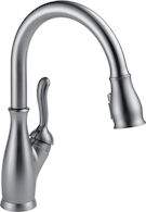 LELAND SINGLE HANDLE PULL DOWN KITCHEN FAUCET WITH SHIELDSPRAY, Arctic Stainless, medium