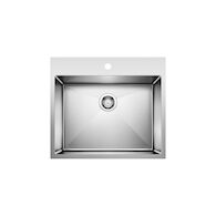QUATRUS R15 25-INCH DUAL LAUNDRY SINK, Stainless Steel, medium