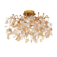 CAMPOBASSO 5-LIGHT FLUSH MOUNT, Gold, medium