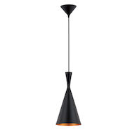 BRONX 8-INCH PENDANT LIGHT, 20437, Black, medium