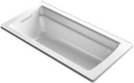 ARCHER® 66 X 32 INCHESDROP IN BATHTUB WITH REVERSIBLE DRAIN, White, medium