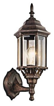 CHESAPEAKE 1-LIGHT OUTDOOR WALL LIGHT, Tannery Bronze, large