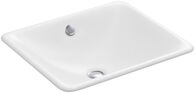 IRON PLAINS® DROP IN/UNDERMOUNT BATHROOM SINK, White, medium