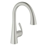 LADYLUX CAFE PULL DOWN KITCHEN FAUCET, SuperSteel Infinity, medium