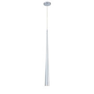SLIVER 1-LIGHT LARGE PENDANT, Chrome, medium