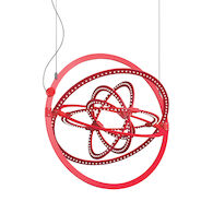 COPERNICO 500 EXTENDED 3000K LED CHANDELIER, 16080-EXT, Polished Red RAL3020, medium
