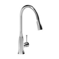 EDGE KITCHEN FAUCET WITH 2-JEY PULL DOWN SPRAY, Chrome, medium