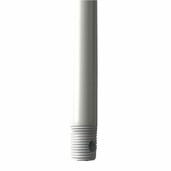 18-INCH CEILING FAN EXTENSION DOWNROD, Matte White, large