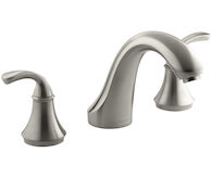 FORTÉ® SCULPTED DECK MOUNT BATH FAUCET TRIM FOR HIGH-FLOW VALVE, Vibrant Brushed Nickel, medium