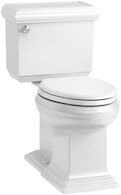 MEMOIRS® CLASSIC COMFORT HEIGHT® TWO-PIECE ELONGATED 1.28 GPF TOILET WITH AQUAPISTON® FLUSHING TECHNOLOGY LEFT-HAND TRIP LEVER AND CONCEALED TRAPWAY, SEAT NOT INCLUDED, White, medium
