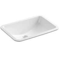 LADENA® 20-7/8 X 14-3/8 X 8-1/8 INCHES UNDERMOUNT BATHROOM SINK WITH GLAZED UNDERSIDE, White, medium