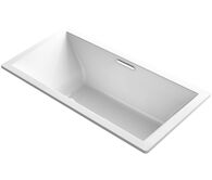 UNDERSCORE® RECTANGLE 72 X 36 INCHES DROP IN BATHTUB WITH BASK® HEATED SURFACE AND CENTER DRAIN, White, medium