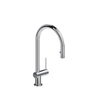 AZURE KITCHEN FAUCET WITH 1-JET PULL DOWN SPRAY, Chrome, medium