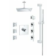 SQUARE THERMOSTAT CUSTOM SHOWER KIT, StarLight Chrome, medium