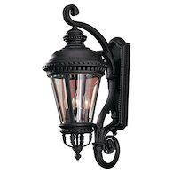 CASTLE 4-LIGHT WALL LANTERN, SMALL, Black, medium