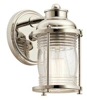 ASHLAND BAY 1-LIGHT WALL SCONCE, Polished Nickel, medium