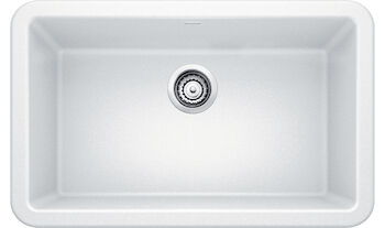 IKON 30 APRON KITCHEN SINK, White, large
