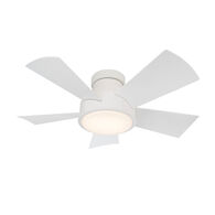 VOX 38-INCH 3000K LED FLUSH MOUNT CEILING FAN, Matte White, medium