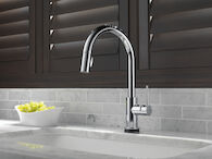 TRINSIC SINGLE HANDLE PULL DOWN KITCHEN FAUCET WITH TOUCH2O TECHNOLOGY, Chrome, medium