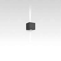 EFFETTO 14-INCH SQUARE DIRECT/INDIRECT 2-NARROW BEAMS WALL LIGHT, Anthracite Grey, medium