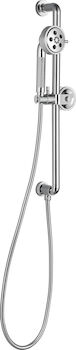 LITZE SLIDE BAR HAND SHOWER WITH H2OKINETIC® TECHNOLOGY, Chrome, large