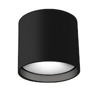 FALCO ROUND LED FLUSH MOUNT LIGHT, Black, medium