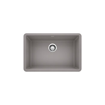 PRECIS UNDERMOUNT SINGLE BOWL SINK U 27, Metallic Grey, large