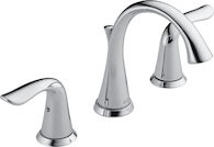 LAHARA TWO HANDLE WIDESPREAD LAVATORY FAUCET, Chrome, medium