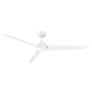 ROBOTO 62-INCH 3000K LED CEILING FAN, Matte White, large