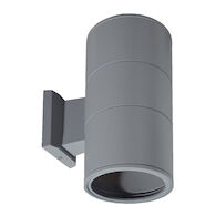 OUTDOOR WALL ROUND DIRECT INDIRECT, Aluminum, medium