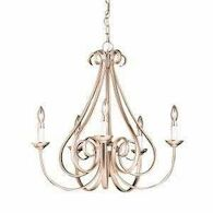 DOVER 5-LIGHT CHANDELIER, 2021, Brushed Nickel, medium