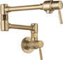 EURO WALL MOUNT POT FILLER FAUCET, Brilliance Luxe Gold, small