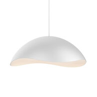 WAVEFORMS SMALL DOME LED PENDANT, Satin White, medium
