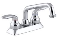 CORALAIS® UTILITY SINK FAUCET WITH THREADED SPOUT AND LEVER HANDLES, Polished Chrome, medium