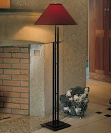 METRA DOUBLE FLOOR LAMP, Dark Smoke, medium
