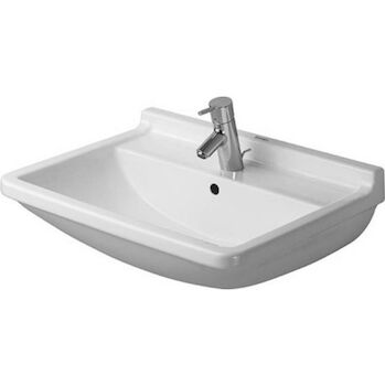 STARCK 3 25 5/8-INCH WASHBASIN WITH OVERFLOW, White, large