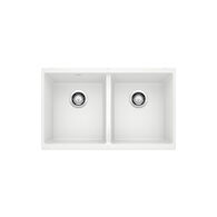 PRECIS UNDERMOUNT DOUBLE BOWL KITCHEN SINK, White, medium