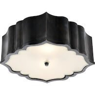 ALEXA HAMPTON BALTHAZAR 3-LIGHT 14-INCH FLUSH MOUNT LIGHT, Gun Metal, medium