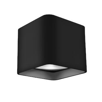 FALCO SQUARE LED FLUSH MOUNT LIGHT, Black, large