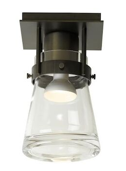 ERLENMEYER 1-LIGHT SEMI-FLUSH LIGHT, Dark Smoke, large