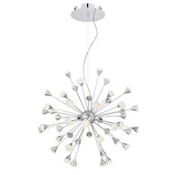 ESPLO 48-LIGHT LED CHANDELIER, Chrome, medium