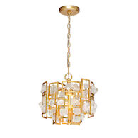 ELROSE 3-LIGHT PENDANT, Gold, medium