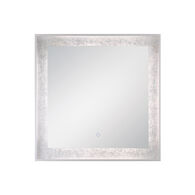 32X32-INCH SQUARE EDGELIT MIRROR WITH 3000K LED LIGHT AND TOUCH SENSOR SWITCH, 33831, Silver, medium