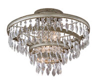 DIVA 3-LIGHT SEMI-FLUSH LIGHT, Silver Leaf, medium