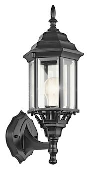 CHESAPEAKE 1-LIGHT OUTDOOR WALL LIGHT, Black, large