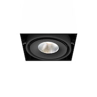 1-LIGHT TRIMLESS 3000K LED MULTIPLE RECESS WITH 40 DEGREES BEAM ANGLE, TE611LED-30-4, Black, medium