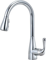MARLEY SINGLE HANDLE PULL DOWN KITCHEN FAUCET, Chrome, medium