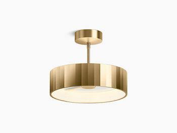 SIMPALO LED SEMI-FLUSH MOUNT, Brushed Gold, large