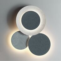 PUCK WALL ART TRIPLE 2700K LED WALL SCONCE LIGHT, 5491, Grey D1 and Grey L2, medium